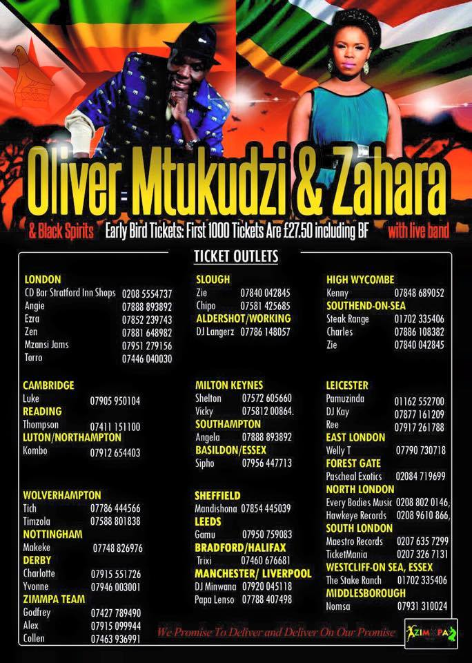 Oliver Mtukudzi and Zahara