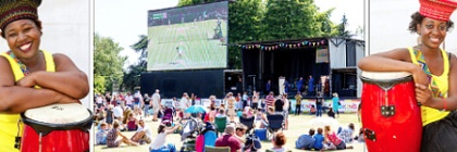 woking party in the park